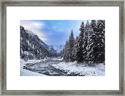 A Cold Winter Day  Framed Print