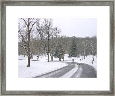 Framed Print featuring the photograph A Cold Winter's Day by Skyler Tipton