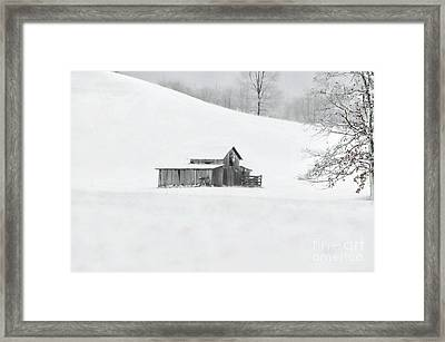 A Cold Winter's Day Framed Print by Benanne Stiens