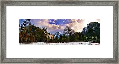 A Cold Yosemite Half Dome Morning Framed Print