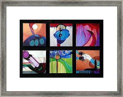 A Collection Of Embellished Giclees Framed Print