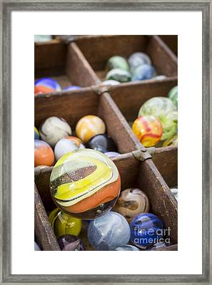A Collection Of Marbles Framed Print by Edward Fielding