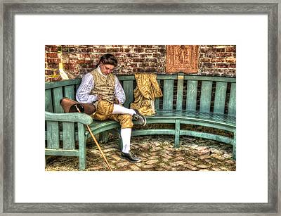A Colonial Gentleman At Rest Framed Print by Robert Nelson