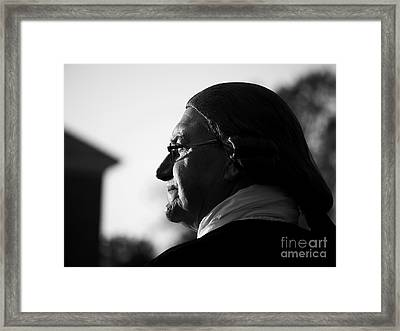 A Colonial Gentleman In Profile Framed Print
