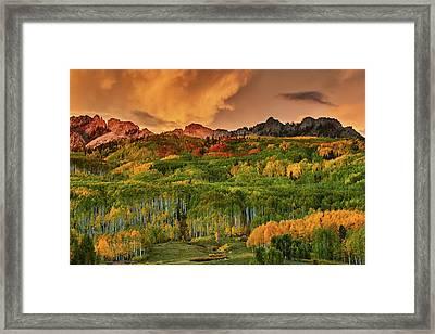 Framed Print featuring the photograph A Colorado Autumn Along Kebler by John De Bord