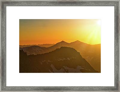 A Colorado Ending Framed Print
