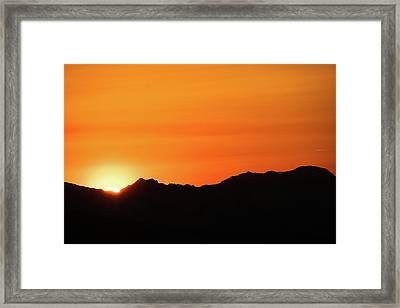 A Colorado Sunset Framed Print