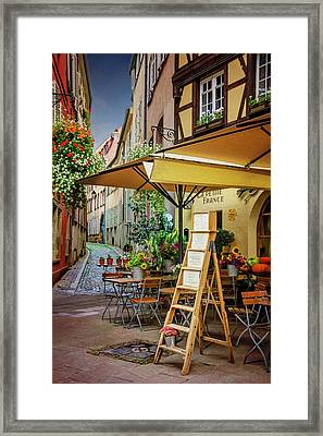 A Colorful Corner Of Strasbourg France Framed Print