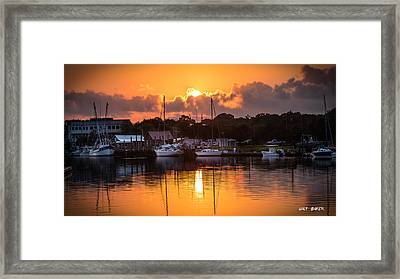 A Colorful Creek Framed Print by Walt Baker