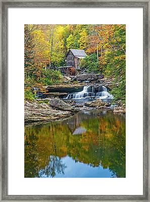A Colorful Fall Day In Wva Framed Print