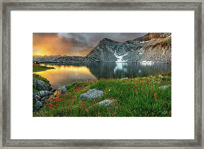 A Colorful Mountain Morning Framed Print