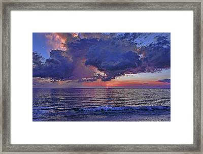 A Colorful Summer Sunset Framed Print by HH Photography of Florida