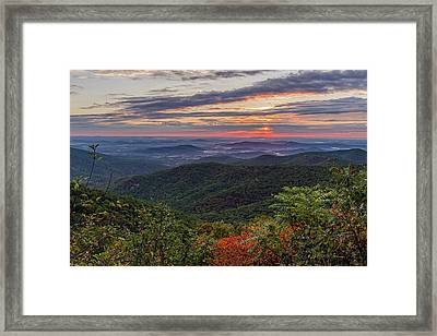 Framed Print featuring the photograph A Colorful Sunrise by Lori Coleman