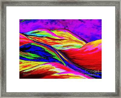 Framed Print featuring the painting A Colorful World by Annie Zeno
