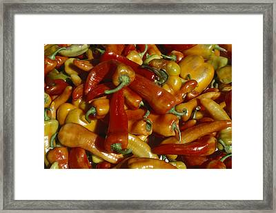 A Colourful Pile Of Framed Print