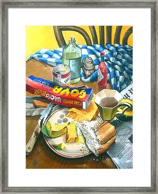A Conch Breakfast Framed Print