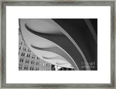A Concrete Flower In The Heart Of The City Framed Print by Hideaki Sakurai