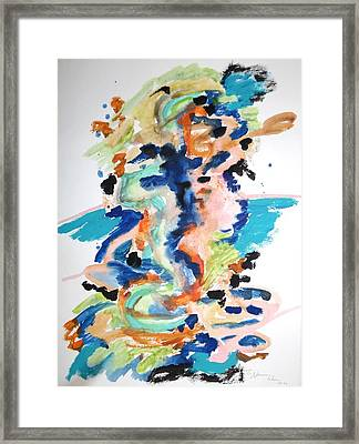 A Confusion Of Impressions Framed Print by Esther Newman-Cohen