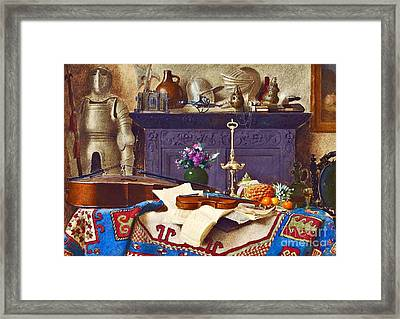 A Connoisseur's Collection Still Life  Framed Print by MotionAge Designs