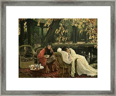 A Convalescent Framed Print by James Jacques Joseph Tissot