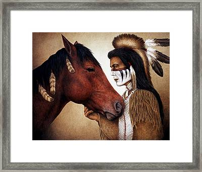 A Conversation Framed Print by Pat Erickson