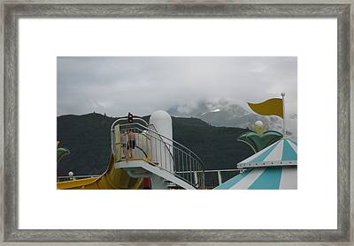 A Cool Day To Swim Framed Print by Richard Hillman