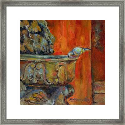 Framed Print featuring the painting A Cool Drink by Chris Brandley