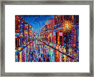 A Cool Night On Bourbon Street Framed Print