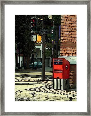 A Corner In Edmonton Framed Print