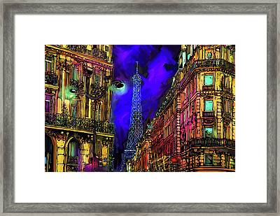 A Corner In Paris Framed Print