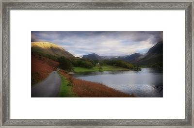 A Corner Of Crummock Water Framed Print by Anthony Dudley
