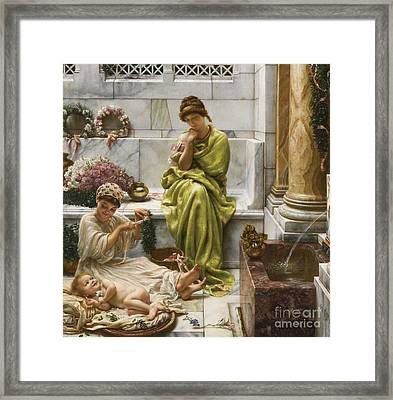 A Corner Of The Marketplace Framed Print by MotionAge Designs