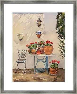 A Corner Of Utes Garden Framed Print by Margaret Merry