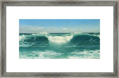 A Cornish Roller Framed Print by Celestial Images