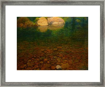 A Coromandel Stream Framed Print