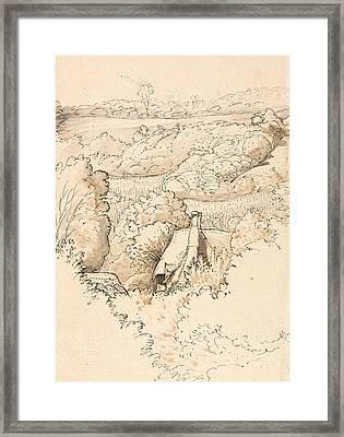 A Cottage Among Trees, Shoreham Framed Print by Samuel Palmer