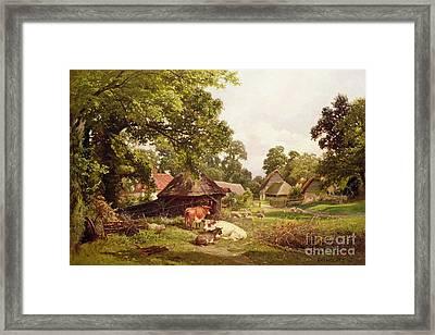 A Cottage Home In Surrey Framed Print