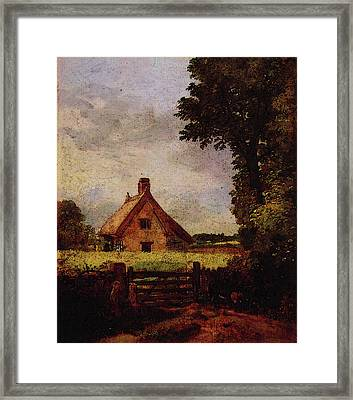 A Cottage In A Cornfield Framed Print by John Constable