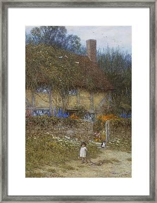 A Cottage Near Godalming Surrey Framed Print by Helen Allingham