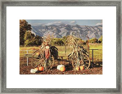 A Country Autumn Framed Print by Donna Kennedy