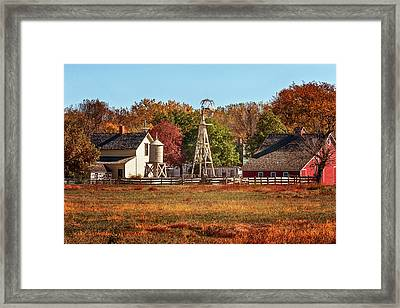 Framed Print featuring the photograph A Country Autumn by Susan Rissi Tregoning