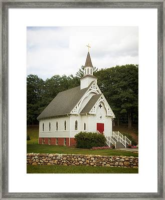 A Country Church In Connecticut Framed Print