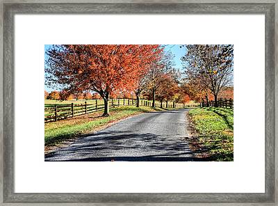 A Country Drive Framed Print