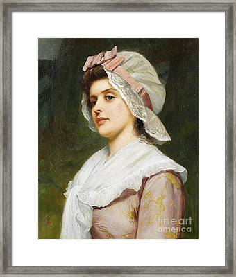 A Country Maid Framed Print by MotionAge Designs