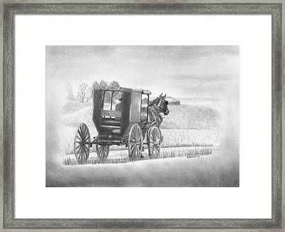 A Country Ride Framed Print by Christopher Brooks