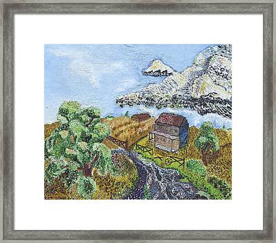 A Country Scene Framed Print by Arnold Bernstein