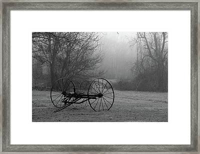 A Country Scene In Black And White Framed Print by Karol Livote