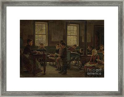 A Country School Framed Print by Edward Lamson Henry