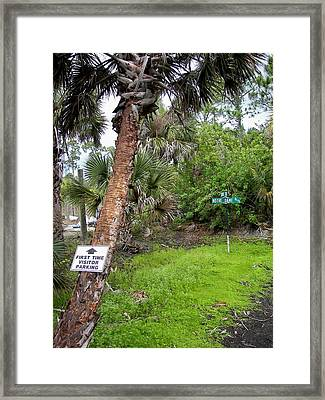 A Country Welcome Framed Print by Charles Peck