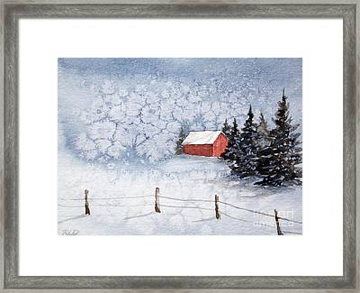 A Country Winter Framed Print